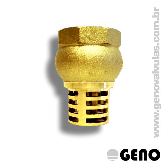 Ideal para tomadas de fluxo por bombeamento, impedindo a penetração de detritos na rede, e com seu sistema de retenção, impede o refluxo.