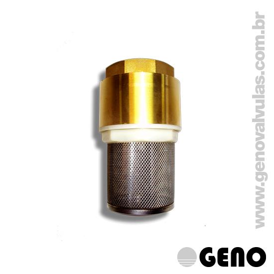 Ideal para tomadas de fluxos por bombeamento, impedindo a penetração de detritos na rede, e com seu sistema de retenção, impede o refluxo.