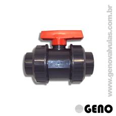 Válvula Esfera PVC Dupla União - 4