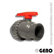 Válvula Esfera PVC Simples União -1.1/2