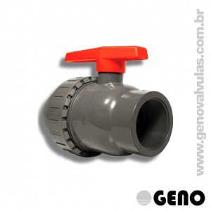 Válvula Esfera PVC Simples União - 2.1/2