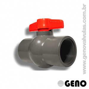 Válvula Esfera PVC Compacta - 1.1/4
